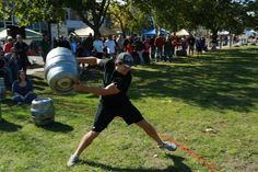 Oktoberfest in Sault Ste. Marie, MI includes beer barrel relay races, a tug-o-war competition, and of course beer, bratwursts and other specialty foods and beverages.