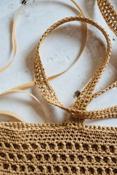 A Pair & A Spare | Learning to Crochet Using Raffia with Wool & The Gang!