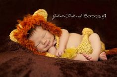 Adapt this pattern for a Where the Wild Things Are hat. CROCHET PATTERN PDF-Baby Lion- 3 sizes. $4.25, via Etsy.