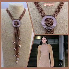 Collana Enday Mapo bigiotteria artigianale Perle, catena e resina