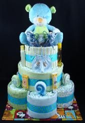 Athena's Diaper Cakes (Love this construction!)