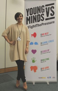 Frankie Sandford from The Saturdays, at the launch of our new campaign YoungMindsVs.org