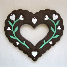 Dark Chocolate Valentine Sugar Cookie