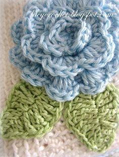 ༺༺ ♥Elles♥Heart♥Loves♥ ༺༺ ............♥Crochet Flowers♥............ #Color #Crochet # Flower #Embellishment #Inspiration #Design #Fibre Art #Applique #Baby #Decorations #Pattern #Vintage #Handmade #Floral ~♥Lacy Crochet Simple Leaf Crochet Pattern