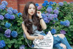 Ulzzang Fashion, Korean Fashion, Park Seul, Korean Model, Korean Style, Character Inspiration, Asian Beauty, Brown Hair, Braids