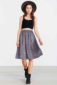 Kimchi Blue Silky Midi Skirt - Urban Outfitters