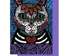 Mi Cat - Mi Gato is available as 5x7 blank greeting cards and 8x10 prints at pamelajoytrow.com.