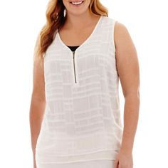 Worthington® Zipper Tank Top - Plus  found at @JCPenney