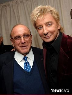 Clive Davis and Barry Manilow (Photo by Stephen Lovekin/WireImage for J Records)