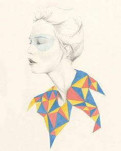 Geometric shapes and portrait