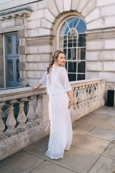 Bride wears sequin Charlie Brear separates. Miss Gen Photography Hatton Garden, Bridal Separates, Flower Stands, Different Dresses, First Dance, I Dress, Our Wedding, Groom, Reception