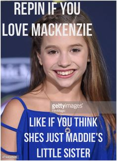 I love you kenzie no can just like this she has way more potential when Abby compares her and Maddie I get super annoyed