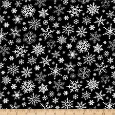 Timeless Treasures Be Merry Chalkboard Snowflakes Black from @fabricdotcom From Timeless Treasures, this cotton print fabric features delicate snowflakes that will have you wishing you could see snow falling from your window! Perfect for quilting, apparel and home decor accents. Colors include black, white and shades of blue.