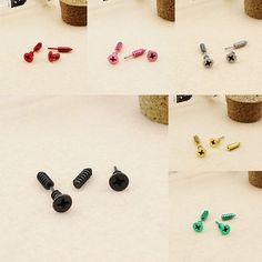 Punk Unisex Men Women Classic Titanium Steel Earrings Fine Cool Screw Stud Earrings 88 M8694