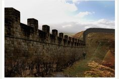 Hadrian's Wall - a more fortified stretch - where the Watchers patrol in the books