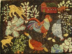 SS - GARDEN RAID Rug Hooking Pattern - Sharon Smith