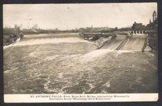St Anthony Falls-Mississippi River-Minneapolis-Postcard | eBay