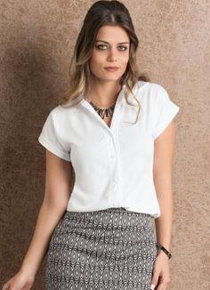Camisa Feminina (Branca) Manga Curta