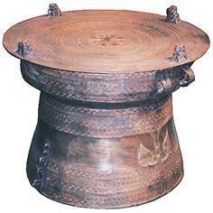 Tibetian rain drum accent table