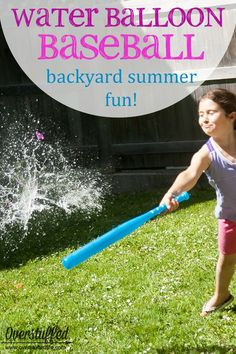 Looking for a fun and frugal summer activity to stave off the boredom Try water balloon baseball right in your own backyard--its cheap and easy and the kids will love it Backyard Party Games, Backyard Patio, Water Balloons, Frugal, Summer Activities, Easy, Baseball, Outdoor Decor, Kids