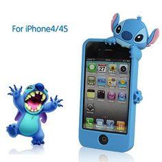 NEW Cuties Disney Stereoscopic Stitch Cases for iPhone Iphone Cases Disney, Cool Iphone Cases, Cool Cases, Cute Phone Cases, Iphone Case Covers, 4s Cases, Iphone Skins, Iphone 4s, Silicone Iphone Cases