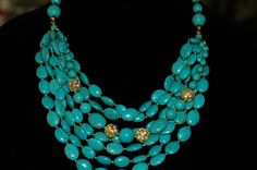 Bib Necklace  Layered Turquoise Necklace by stylelovers on Etsy, $35.00