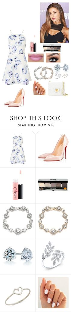 """""""At forest's party!"""" by thearijade ❤ liked on Polyvore featuring Lipsy, Christian Louboutin, MAC Cosmetics, Bobbi Brown Cosmetics, Marchesa, Kwiat, Aurélie Bidermann and Chanel"""