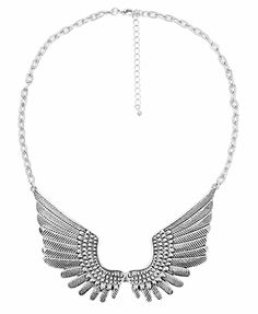 Etched Wings 'Bib' Necklace