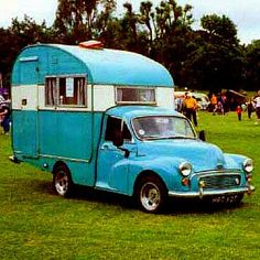 The Old timers,.A 1960 odd Morris minor camper Camper Caravan, Truck Camper, Camper Trailers, Camper Van, Vintage Rv, Vintage Caravans, Vintage Travel Trailers, Vintage Campers, Vintage Airstream