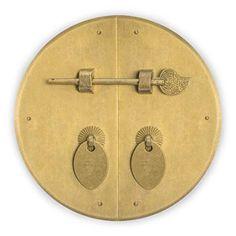 CBH Rounded Three Sided Brass Corner Hardware 2 Set of 2 Chinese Brass Hardware