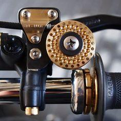 """NJ Komet"" detail by Hot Dock Cycles | Harley-Davidson EL ""Knucklehead"" engine | HD WL 750 type frame | Bates headlight | Japan"