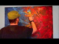 Acrylmalerei Spachteltechnik abstrakt - YouTube