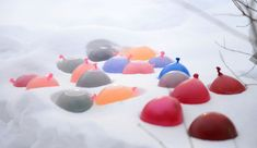 Bring colour to the deep freeze of winter with beautiful coloured ice orbs — perfect for creating towers, animals and more! Snow Activities, Winter Activities For Kids, Experiment, Snowman Tree, Snowmen, Fun Crafts, Crafts For Kids, Ice Sculptures, Winter Fun