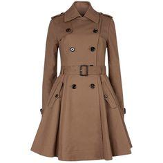 Ted Baker Full Skirt Belted Coat, Beige