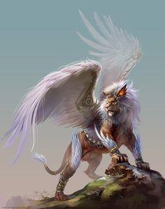 """Lion"" by Yu Cheng Hong (yuchenghong) | #Fantasy #MythicalCreatures"