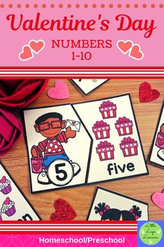 Be Mine Valentine 5 Numbers Lessons Numbers Preschool, Preschool Activities, Morning Activities, Numbers 1 10, Number Activities, Dramatic Play, Elementary Math, Literacy Centers, Homeschool