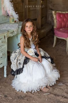 All dressed up in the barn ~ Southern Belle ~ Feathers ~ French Chair ~ LovebabyJ ~ Child Photography ~ Jamey Reed Photography ~ Alabama Child Photographer ~ Guntersville, Alabama ~ Farm ~ Ruffles ~ Lace