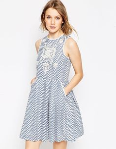 d.RA+Printed+Skater+Dress+with+Embroidery