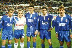 31 de octubre de 1992. Última reunión de los componentes de la Quinta del Buitre en Zaragoza en un partido entre el Zaragoza, equipo en el que militaba Pardeza y el Real Madrid.