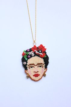 Frida Kahlo necklace Frida miyuki pearl jewelry necklace Within the last 30 years, the evolution of fashion has been in … Peyote Patterns, Beading Patterns, Seed Beads, Perler Beads, Mexican Jewelry, Beaded Jewelry Patterns, Bijoux Diy, Beading Projects, Gifts For Her
