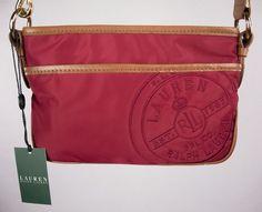 RALPH LAUREN New Stewart Plaid Small Cross Body Red Bag In Box #RalphLauren #MessengerCrossBody