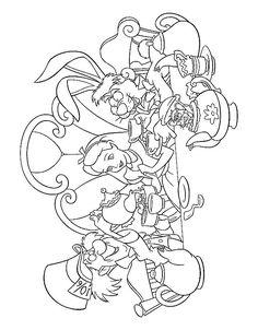 kleurplaat Alice in Wonderland - Alice in Wonderland