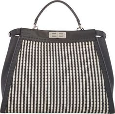 Fendi Woven Medium Selleria Peekaboo Bag