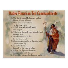 Native American Ten Commandments Posters