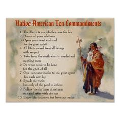 Native American Ten Commandments Posters