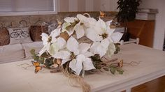 Christmas Floristry Tutorial: Poinsettia Willow and Ivy Wreath