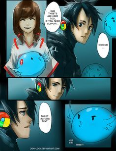Chrome's Little Bird 13 by Jon-Lock on deviantART Site Anime, App Anime, Manga Anime, Anime Art, The Awkward Yeti, 4 Panel Life, Cartoon As Anime, Anime Version, A Silent Voice