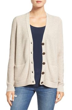 Free shipping and returns on Madewell 'Bradyn' Cardigan at Nordstrom.com. Look instantly polished in a luxuriously soft and lightweight cardigan styled with a timeless V-neckline, exposed back seam and split hemline.