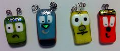 Glass Character Magnets by RemarkableTouch on Etsy, $18.00