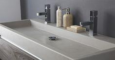 Een wastafel van beton is trendy en past zeer goed in vele ontwerpen badkamers. Heel herkenbaar aan de grijze kleur
